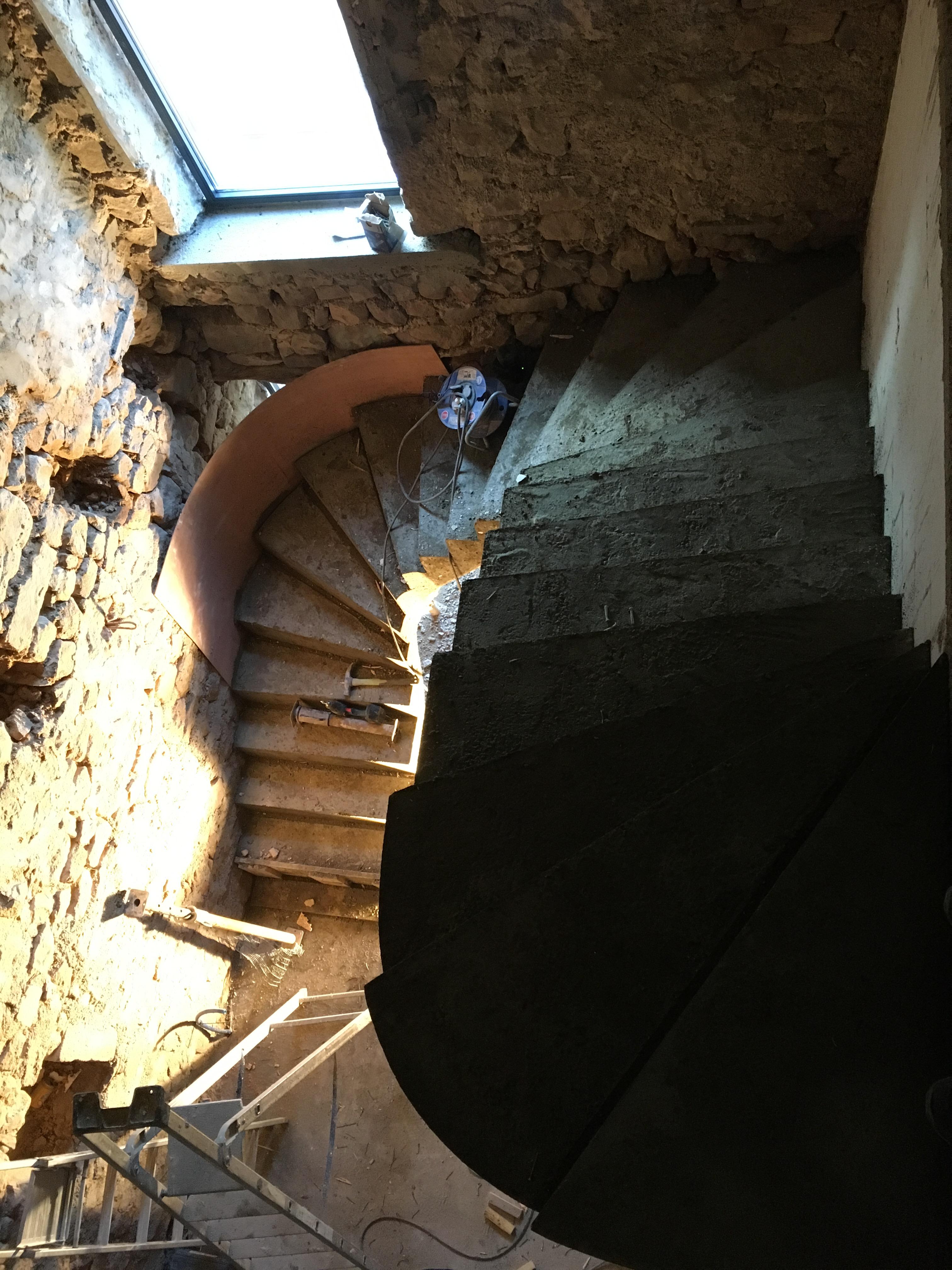 escalier-beton