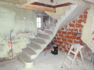 escalier sur voute sarrazine